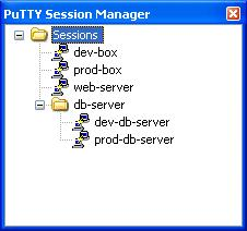 PSM Session List with folders